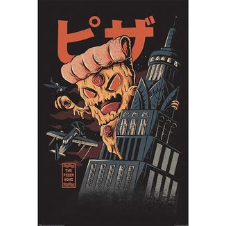 Poster Ilustrata Pizza Kong 91,5 x 61 cms
