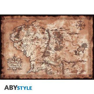 Poster Mapa Tierra Media El Señor De Los Anillos 91,5 x 61 cms