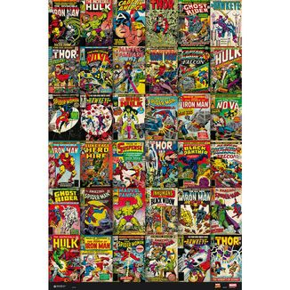 Poster Marvel Classic Comic Covers 91.5 x 61 cms