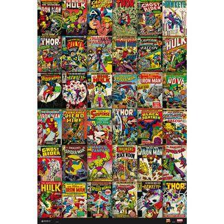Poster Marvel Portadas Clasicas Comic 91,5 x 61 cms