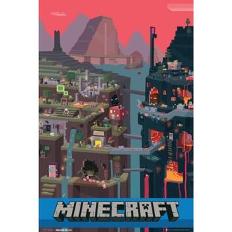 Poster Minecraft World 91,5 x 61 cms
