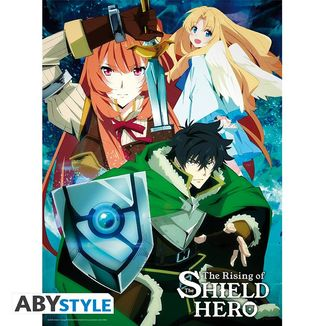 Naofumi's Party The Rising Of The Shield Hero Poster 52 x 38 cms