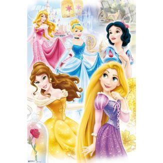 Poster Princesas Disney 91,5 x 61 cms