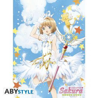 Card Captor Sakura with Wand Poster 52 x 38 cms