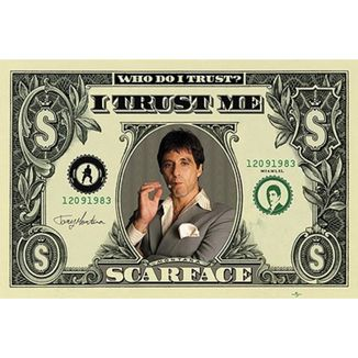 Poster Scarface 91,5 x 61 cms