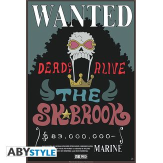 Wanted Poster Brook One Piece 52 x 35 cms