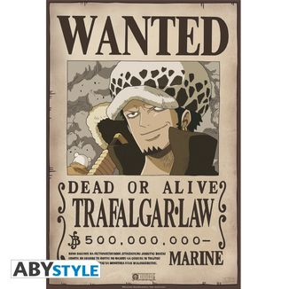 Trafalgar Law Wanted One Piece Poster 52 x 35 cms