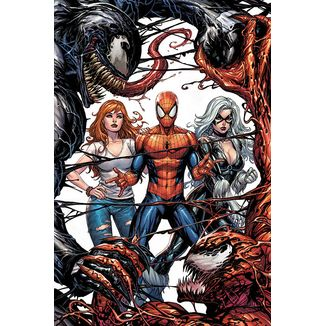 Poster Venom y Carnage Fight Marvel Comics 92 x 61 cms