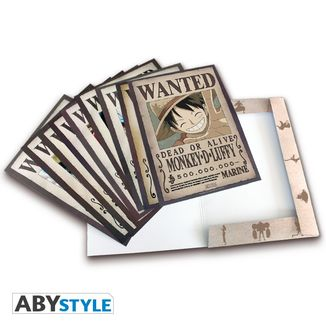 Poster Wanted One Piece Set de 9 21 x 29 cms