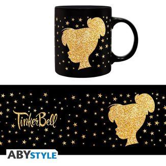 Tinkerbell Peter Pan Disney Gold Glitter Mug 320ml