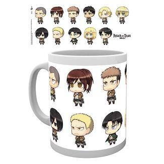 Chibi Characters Mug Attack on Titan 320 ml