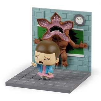 Diorama Stranger Things Eleven vs Demogorgon