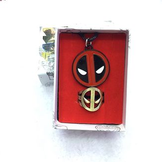 Set Deadpool Necklace and Ring