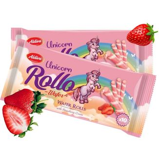 Unicorn Wafer Rolls Strawberry