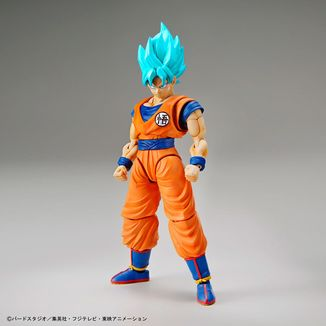 Model Kit Dragon Ball Z Son Goku Super Saiyan God Blue Figure Rise Standard