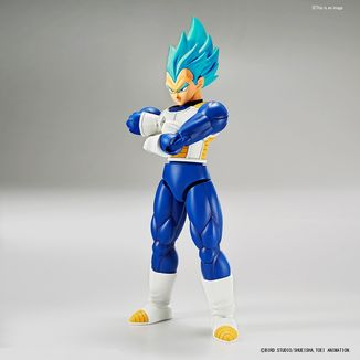 Model Kit Dragon Ball Z Vegeta Super Saiyan God Blue Figure Rise Standard