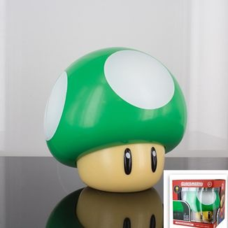 Lámpara 3D Seta Verde Super Mario Bros